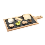 Trim Natural Slate and Bamboo-Wood Cheeseboard by True