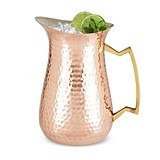 Old Kentucky Home Hammered Copper Pitcher with Brass Handle by Twine