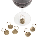Chateau™ Varietal Round Metal Wine Charms by Twine (Set of 6)