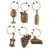 Grapevine Vineyard Wine-Themed Charms by Twine (Set of 6)