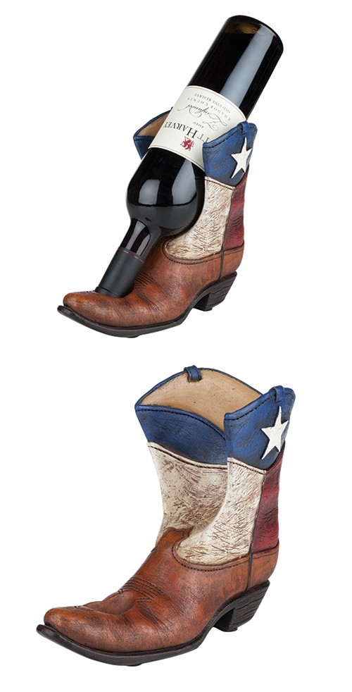"""Lone Star"" Texas Flag Boot Bottle Holder by Foster & Rye"