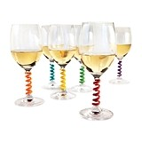 Stem Springs™ Wine Charms by TrueZOO (Set of 6)