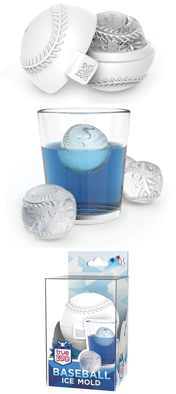 Baseball-Shaped Silicone Ice Cube Mold by TrueZOO