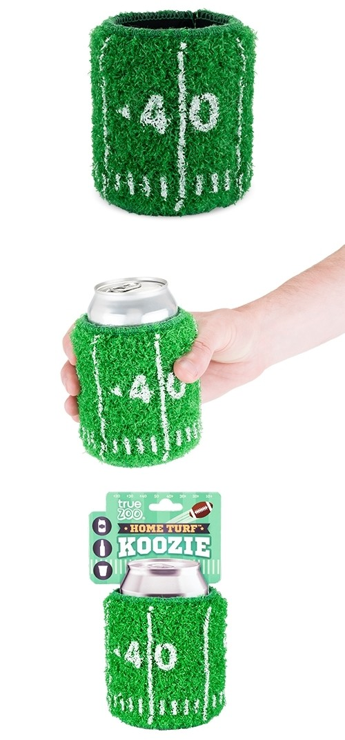 Home Turf™ Real Astro-Turf with Football Hashmarks Drink Sleeve