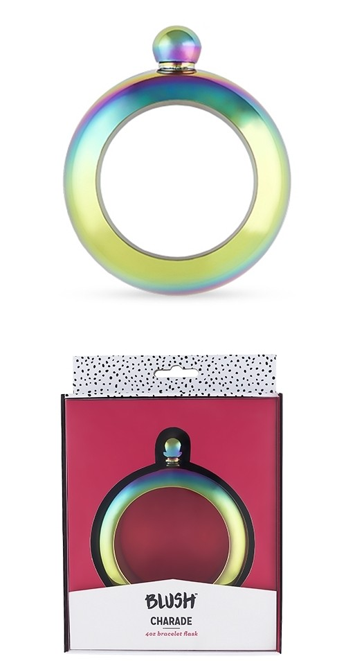 Charade: Rainbow Bracelet Flask by Blush