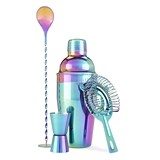 Mirage: Stainless-Steel Rainbow-Plated Barware Set by Blush