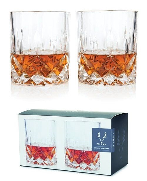 Admiral Collection: Lead-Free Crystal Tumblers by Viski (Set of 2)