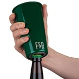 Hunter Green Enamel Finish Bottle Opening Pint Cup by Foster & Rye