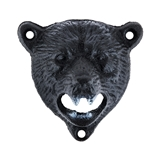 Cast Iron Wall-Mounted Bear Bottle Opener by Foster & Rye