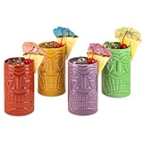 Beachcomber™ Ceramic Tiki Mugs in Assorted Colors by True (Set of 4)