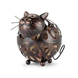 Whiskers Bronze-Finish-Metal Cat Cork Holder by True