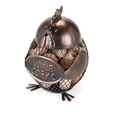 Gobble Bronze-Finish-Metal Hen Cork Holder by True