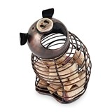 Oink Bronze-Finish-Metal Pig Cork Holder by True