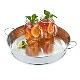 Country Home™ Galvanized Metal Serving Tray by Twine