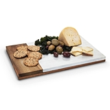 Country Cottage: Marble & Wood Cheese Board by Twine