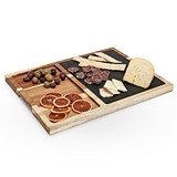 Rustic Farmhouse Collection Slate and Wood Appetizer Board by Twine