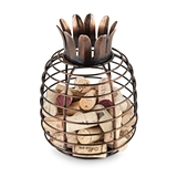 Juicy Bronze-Finish-Metal Pineapple Cork Holder by True
