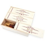 Marketplace Collection Red, White and Rosé Wooden Wine Box by Twine
