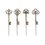 Chateau Antique Key Cocktail Picks by Twine (Set of 4)