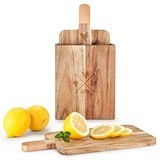 Rustic Farmhouse™ Acacia Wood Cutting Board Set with Stand by Twine