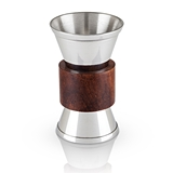 Admiral: Teak-Wood-Banded Stainless-Steel Jigger by VISKI