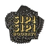 Sip Sip Hooray! Confetti Motif Napkins by Cakewalk (Package of 20)