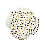 Black and Gold Tuxedo Dots Napkins by Cakewalk (Package of 20)