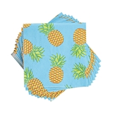 Tropical Chic Tiki Pineapple Motif Napkins by Cakewalk (Package of 20)