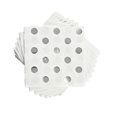 Foiled Silver Dot Paper Napkins by Cakewalk (Package of 20)
