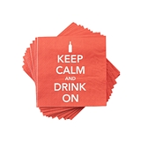 """Keep Calm and Drink On"" Napkins by Cakewalk (Package of 20)"