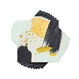 Black and Gold Abstract Painterly Napkins by Cakewalk (Package of 20)