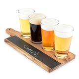 Acacia-Wood and Slate Beer Flight Board by Foster & Rye
