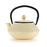 Miko™ Ivory Cast Iron Teapot by Pinky Up