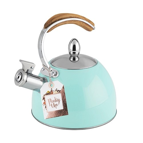 Presley™ Light Blue Finish Stainless Steel Tea Kettle by Pinky Up