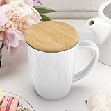 Bailey™ Ceramic Tea Mug & Infuser in White by Pinky Up