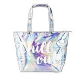 "Flashy ""Chill Out"" Metallic Insulated Tote by Blush"