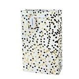 Tuxedo Dot Foil Accents Double Wine Bag by Cakewalk by True