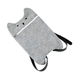 Smokey: Grey Felt Cat Tote Bag Backpack by TrueZOO