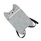 Smokey: Grey Felt Cat Tote Bag Backpack by TrueZOO