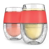 FREEZE Wine Cooling Cups by HOST w/ Colored Bands (3 Colors)(Set of 2)