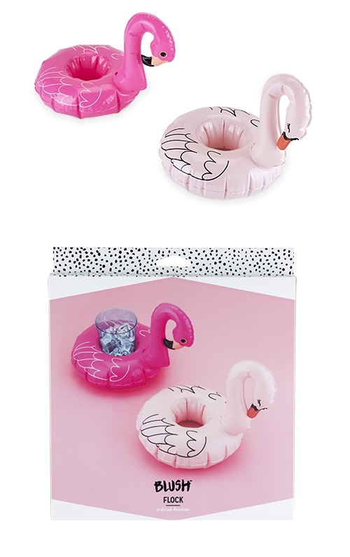 """Flock"" Flamingo Drink Floaties by Blush (Set of 2)"