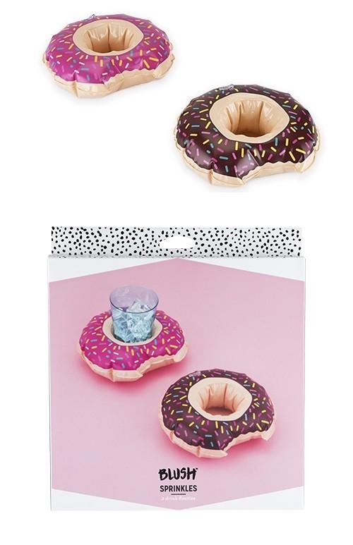"""Sprinkles"" Donut Drink Floaties by Blush (Set of 2)"