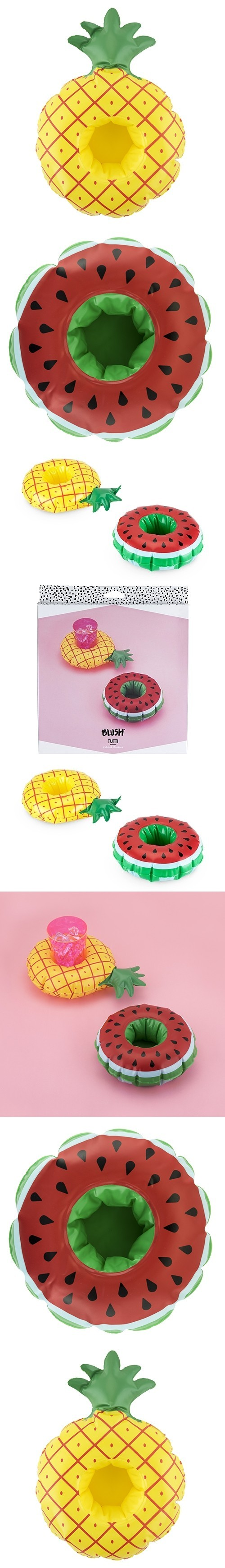"""Tutti"" Tropical Fruit Drink Floaties by Blush (Set of 2)"