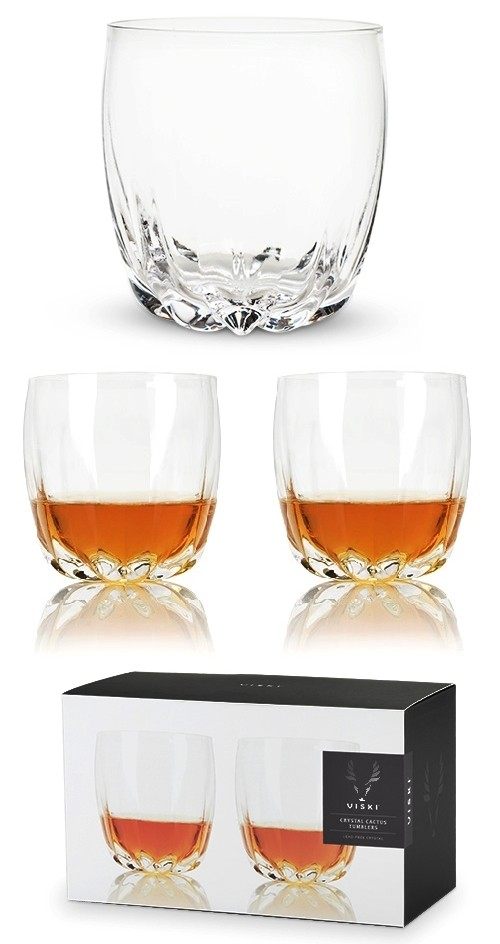 Raye: Crystal Cactus Tumblers by VISKI (Set of 2)