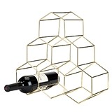 Belmont: Gold-Plated Stainless Steel Geo Wine Rack by Viski