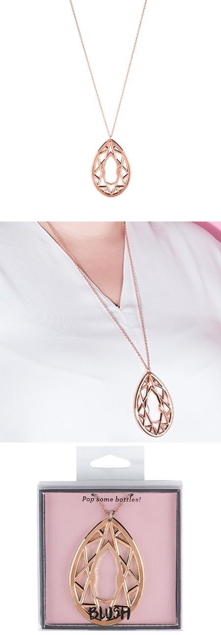 Gem rose gold plated metal necklace bottle opener by for Rose gold letter opener