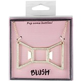 Bowtie: Plated Metal Necklace Bottle Opener by Blush (3 Colors)