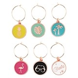 Palm Springs Assorted Wine Charms by Blush (Set of 6)