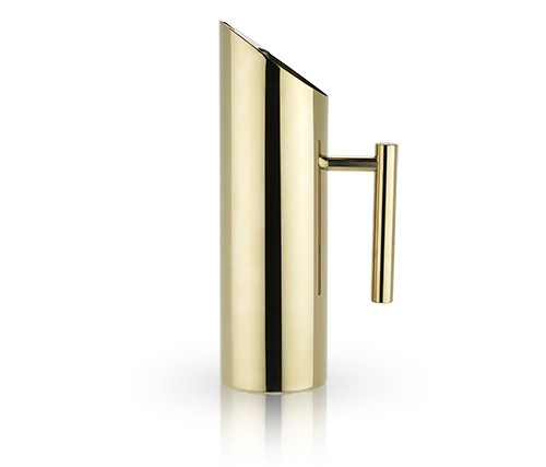 Belmont Collection Sleek Modern Design Gold-Plated Pitcher by VISKI