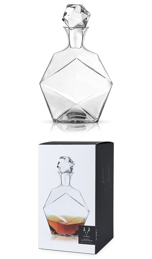 Raye: Faceted Lead-Free Crystal Liquor Decanter by VISKI